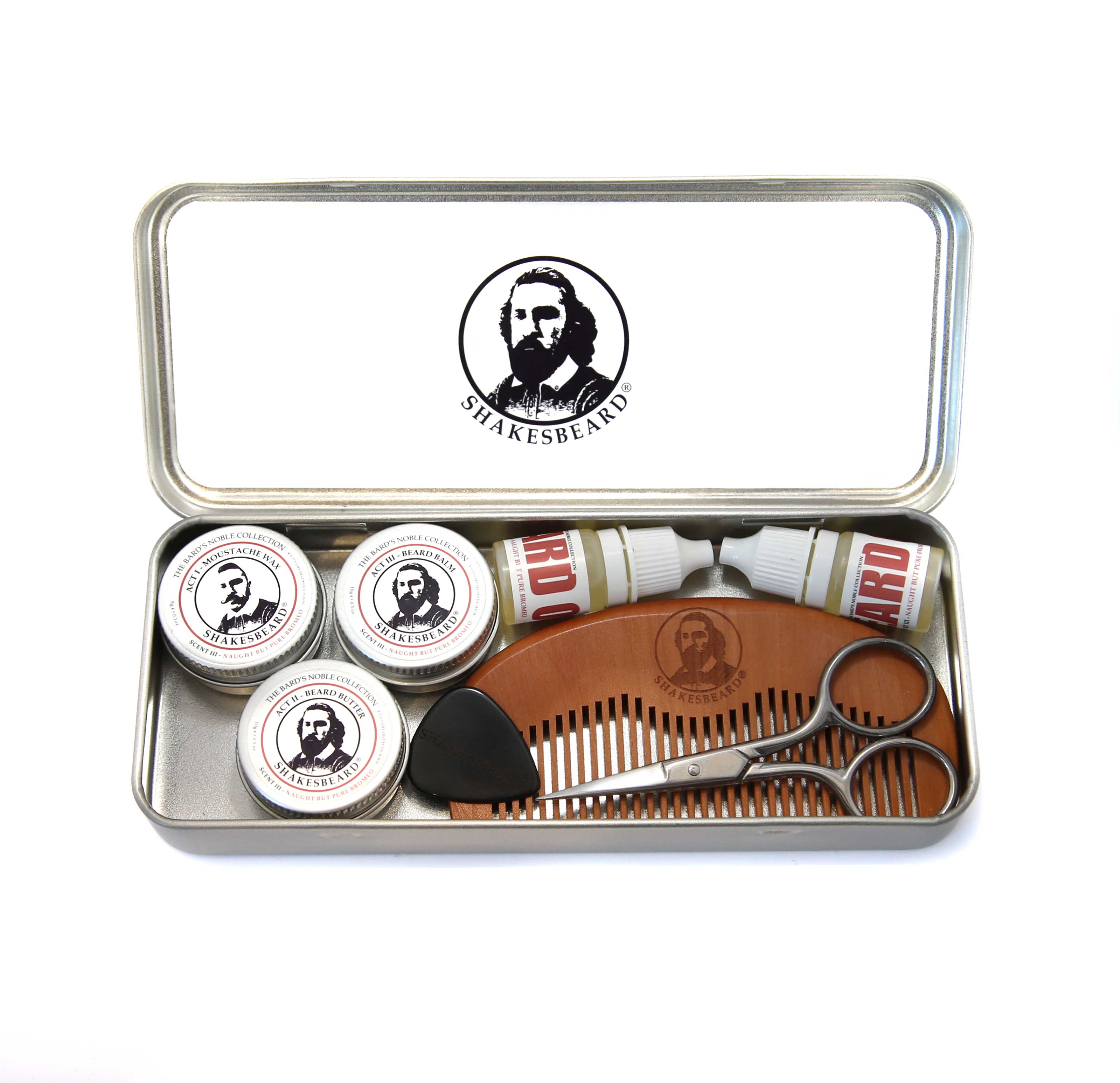 Compact Beard & Moustache Grooming Kit